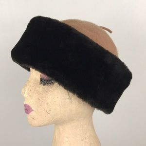 Vintage Betmar Wool Blend Faux Fur Winter Hat